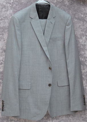 GUCCI スーツ GUCCI★グッチ素敵! Gray Mens 2 Button Wool Suit sz.58(2)