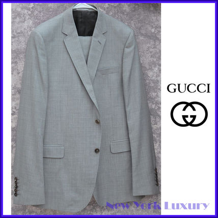 GUCCI スーツ GUCCI★グッチ素敵! Gray Mens 2 Button Wool Suit sz.58