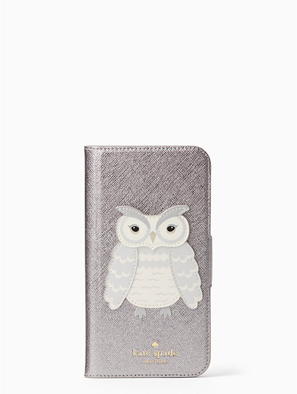 Kate Spade Owl Applique Folio iPhone X Case