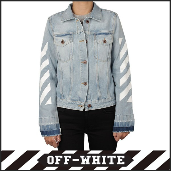 Off-White_正規品 Diagonal denim jacket 2017f/w [Size :36~42]