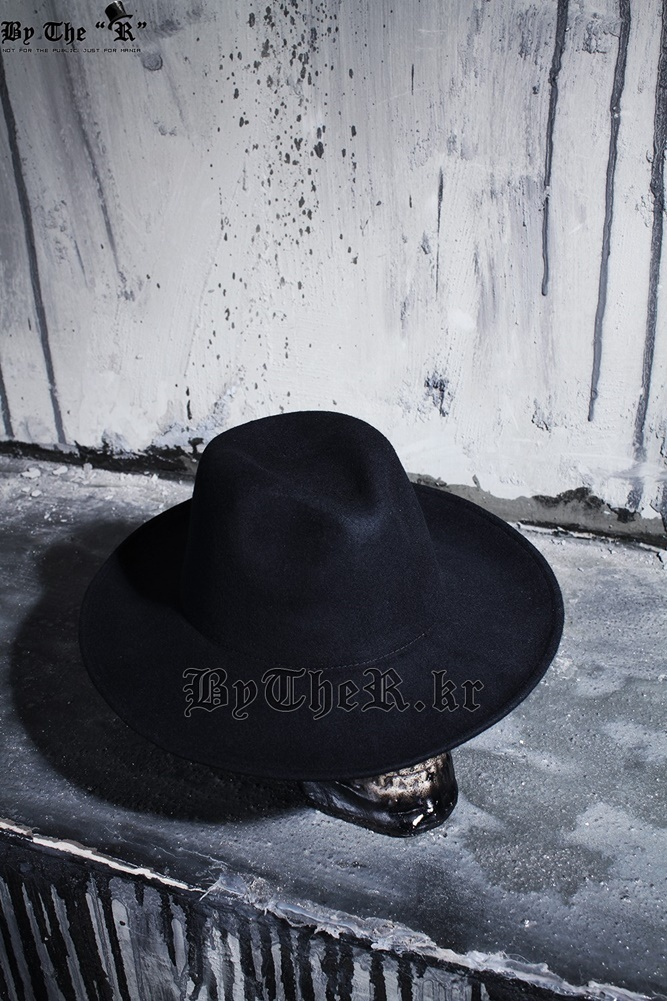 ★韓国の人気★BTHR★ByTheR Noir Wool Felt Hat★