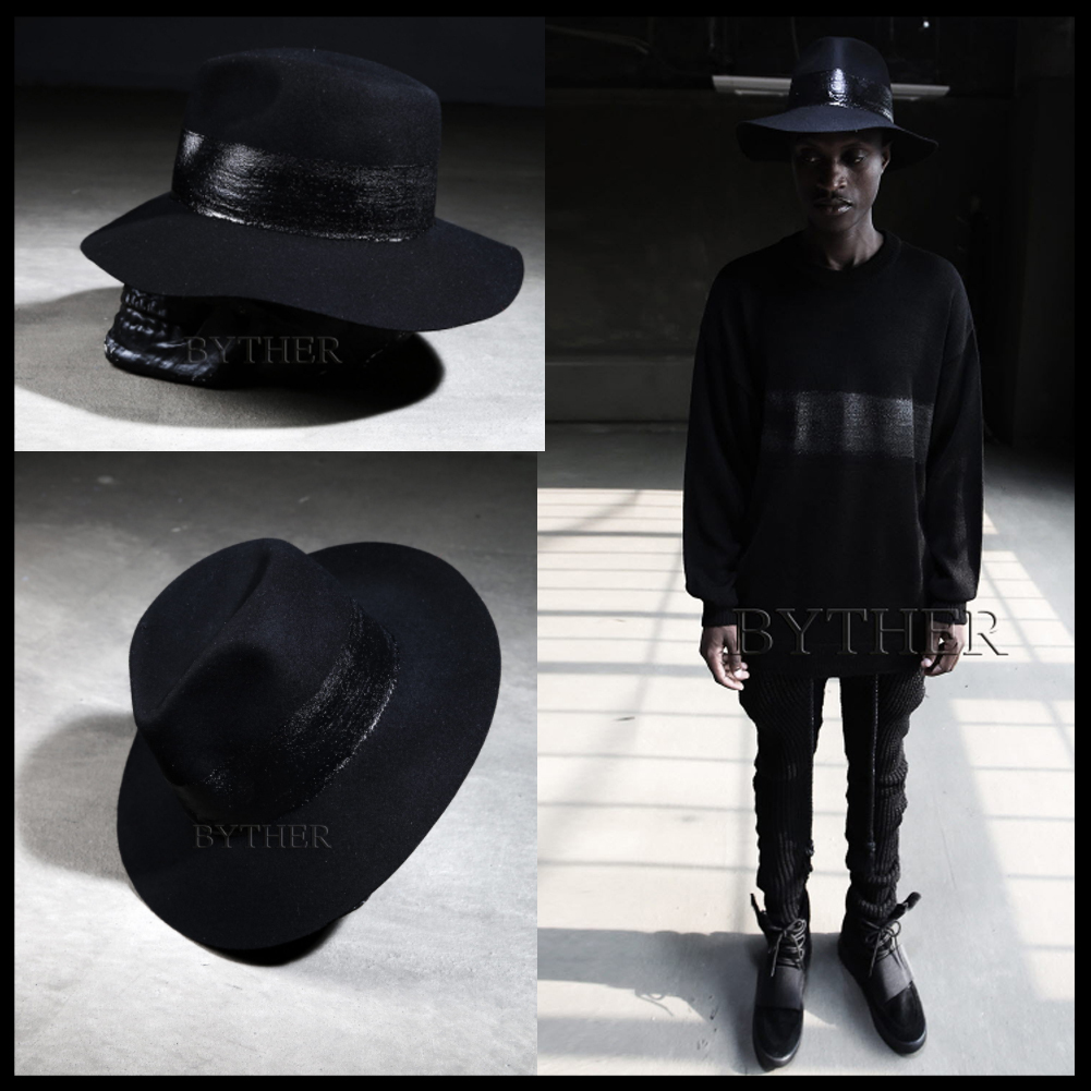 ★韓国の人気★BTHR★ByTheR Custom Round Painting Felt Fedora