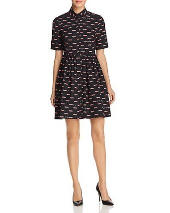kate spade new york Hot Rod Poplin Fit-and-Flare Dress