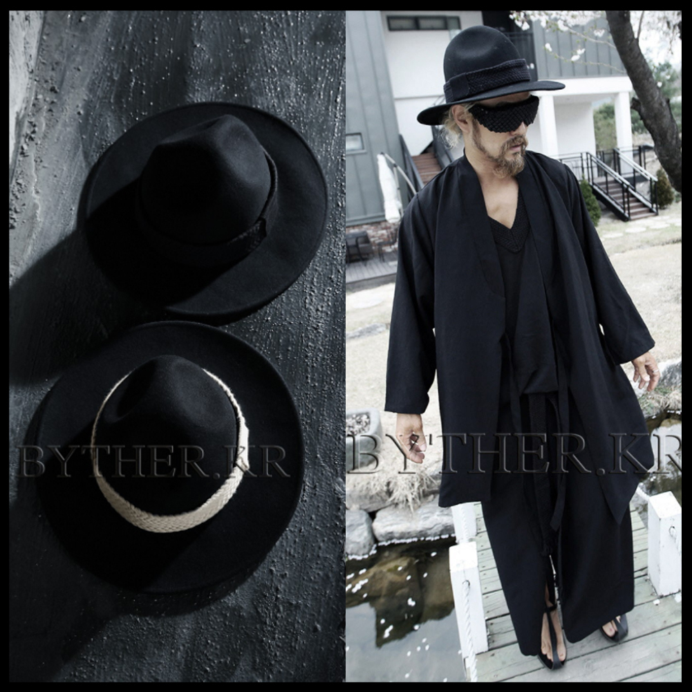 ★韓国の人気★BTHR★ByTheR Custom Flat Rope Mountain Fedora