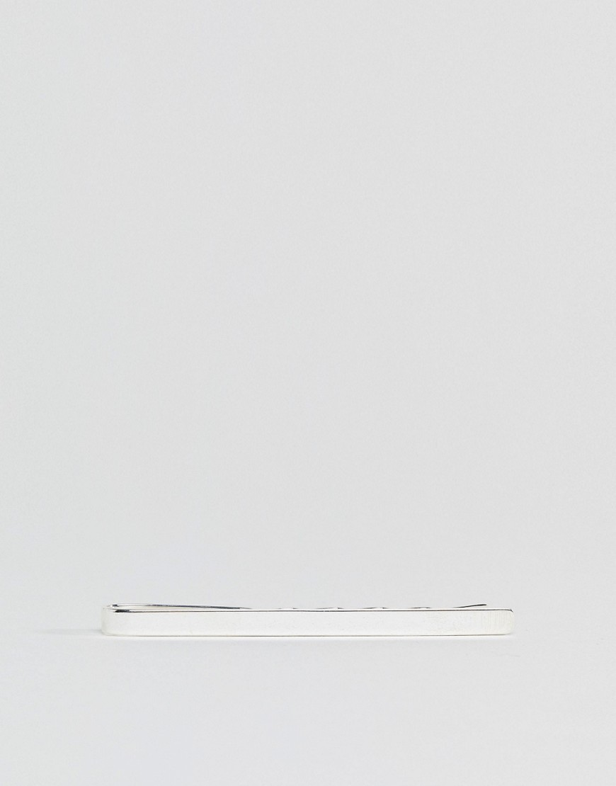 ○送料込○ Fred Bennett Plain Tie Bar In Sterling Silver