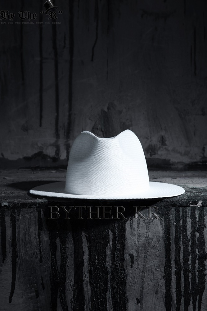 ★韓国の人気★BTHR★ByTheR White Panama Straw Fedora★