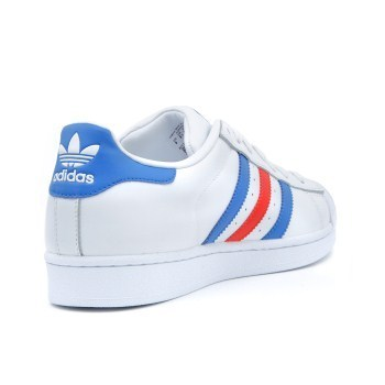 【ADIDAS】 アディダス SUPERSTAR BB2246   WHITE/BLUE/RED