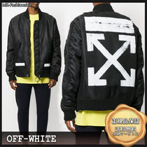 [SALE]送料込み◆OFF-WHITE Brushed Arrows ボマージャケット