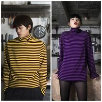 CLIF WEAR(クリフウェア) Tシャツ・カットソー 日本未入荷 CLIF WEARのBTS着用TURTLE NECK STRIPE TEE 全2色