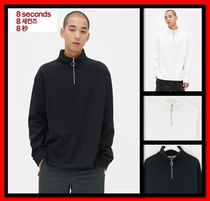 8 SECONDS(エイトセカンズ) スウェット・トレーナー 人気【8SECONDS】O-ring Half Zip-up Slit Napped Sweatshirt☆
