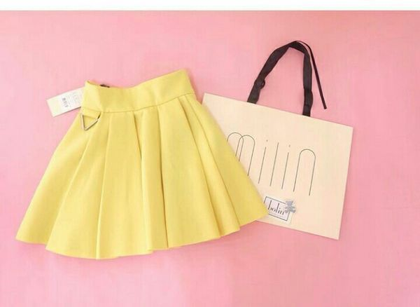 Milin Yellow Bounce Skirt 先取り (new, XS/US0)