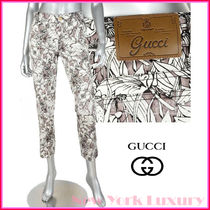 GUCCI★グッチ★素敵!FLORA FLORAL HOLIDAY CROPPED PANTS