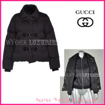 GUCCI★グッチ★素敵!BLACK LEATHER DETAIL DOWN JACKET