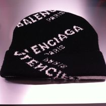 【BALENCIAGA】All Over Logo ニットキャップ