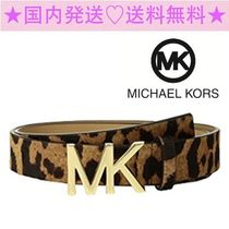 ★Michael Kors★豪華なヒョウ柄★Leopard Haircalf Logo Belt★