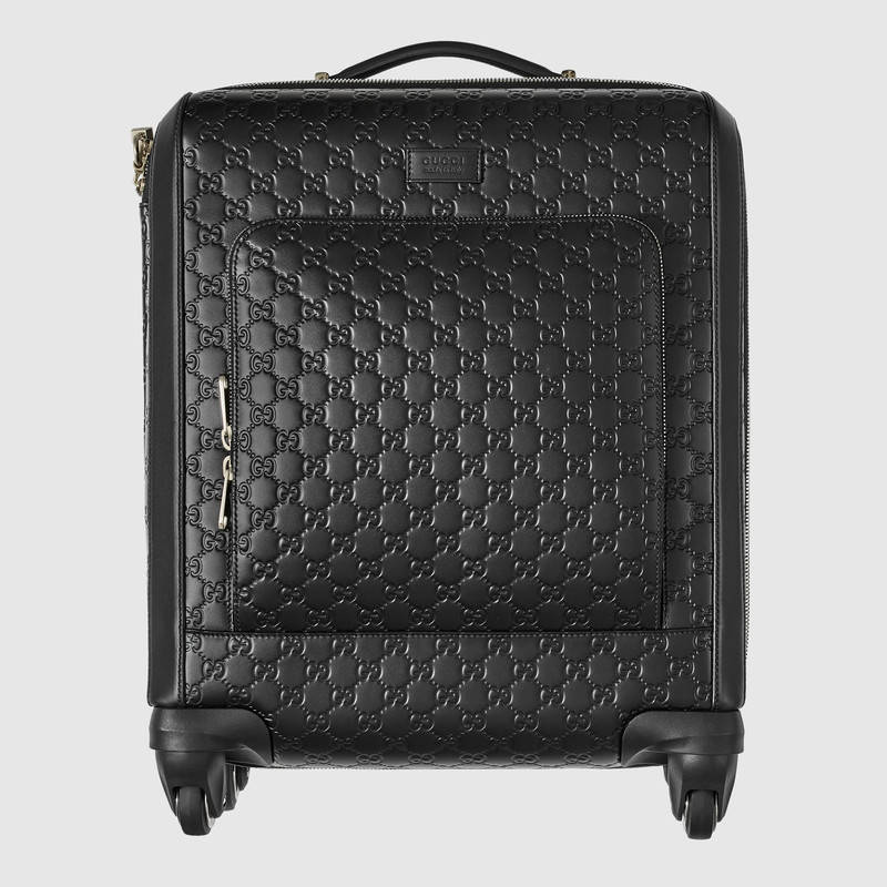 GUCCI グッチ/Signature leather carry-on レザースーツケース黒