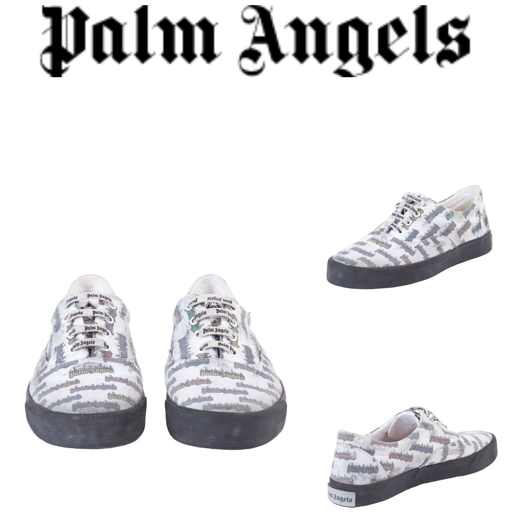 【PALM ANGELS】セレブ愛用☆18SS最新*BURNING LOGO SNEAKERS