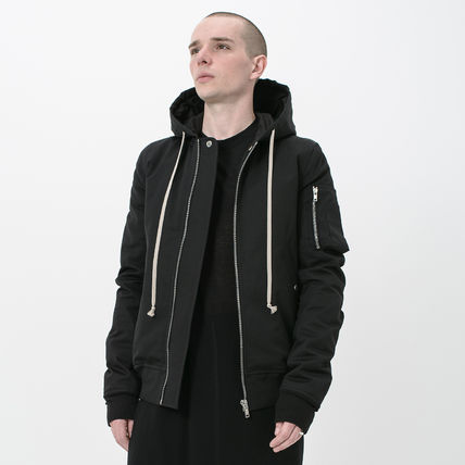 即発 FW17 RICK OWENS MA-1 FLIGHT HOOD PADDED DOWN BOMBER