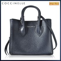 COCCINELLE(コチネレ) トートバッグ ★COCCINELLE★ Farisa Blue Leather Miniトートバッグ 関税込