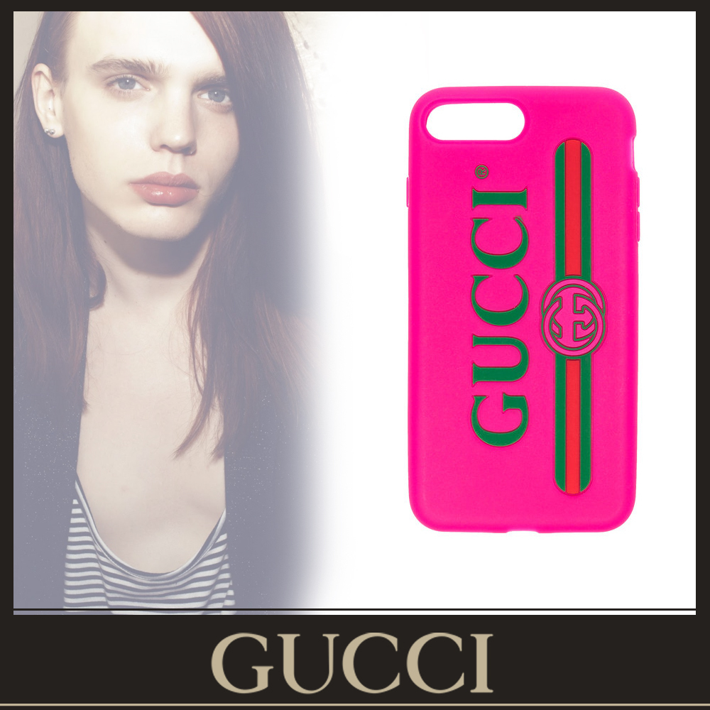 GUCCI★ iPhone 7/8  /Plus caseヴィンテージロゴピンク
