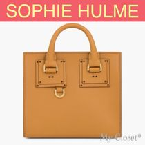 SOPHIE HULME Albion Box Tote トートバッグ  ブラウン 2WAY