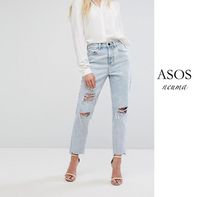 ASOS RECYCLED ORIGINAL MOM ジーンズ Radleigh Light