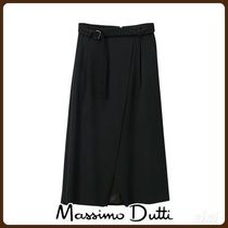 MassimoDutti♪SARONG SKIRT WITH BELT DETAIL