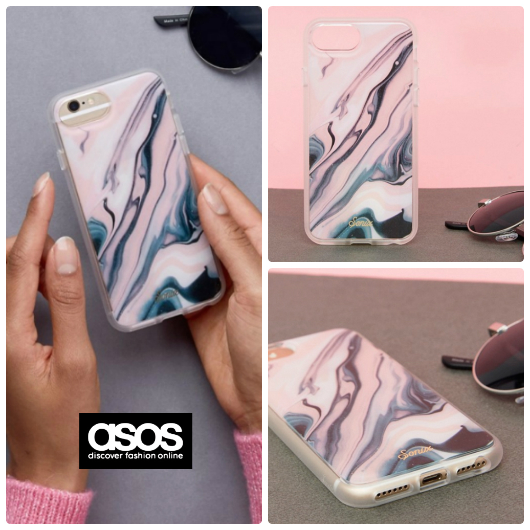【送料+関税無料】ASOS Sonix Blush Quartz iPhone6/7/8用ケース