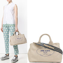 PR971 CANAPA TOTE LARGE WITH STRIPED FABRIC STRAP