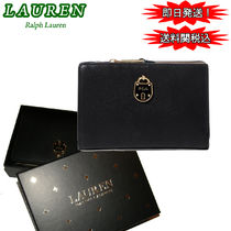 ギフト最適! Ralph Lauren Emden Pebbled Compact  財布