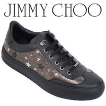 JIMMY CHOO スタッズ スニーカー ACE-EOR-GUNMETAL/METALLIC MIX