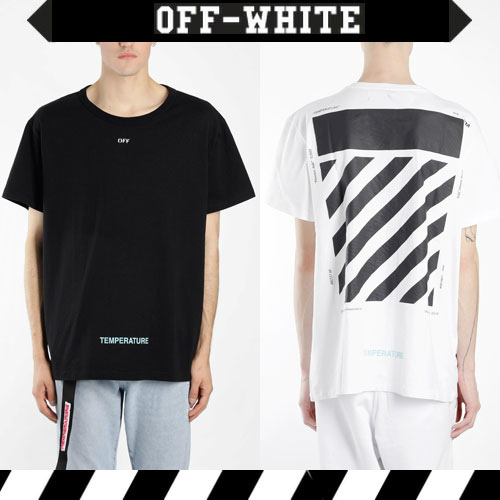SS新作 Off-Whiteオフホワイト DIAG TEMPERATURE Tシャツ