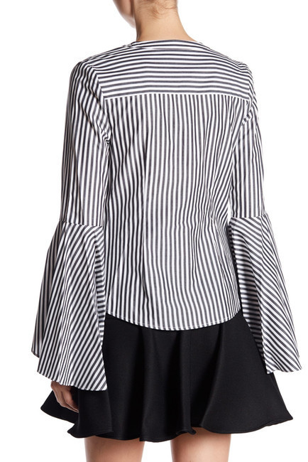 MILLY Ruthie Stripe Shirting us2 シャツ 限定セール