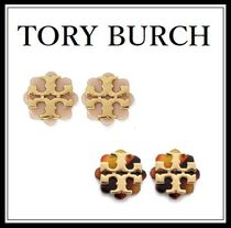 TORY BURCH*Logo Flower Resin Stud Earring◆ロゴ お花 ピアス