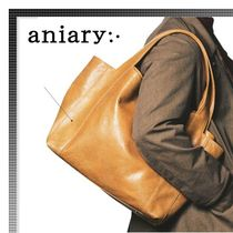 ANIARY(アニアリ) トートバッグ ☆雑誌掲載☆17-18AW ANIARY カウレザートートバッグ
