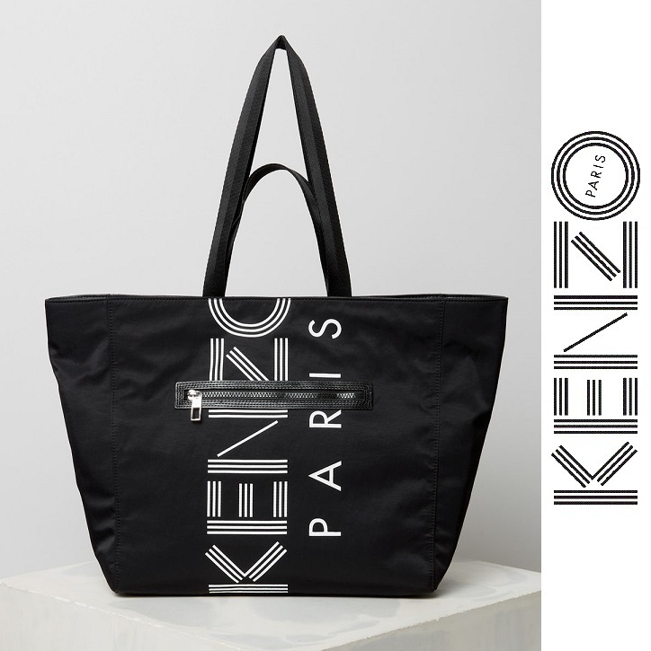 KENZO パリ発☆ロゴ・ナイロン トートバッグ・2018SS