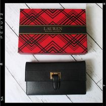 国内発送【Ralph Lauren】Slim Pebbled Leather Wallet