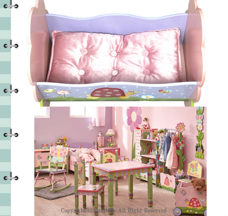 Magic Garden Rocking Doll Bed 人形用ベッド/fft014