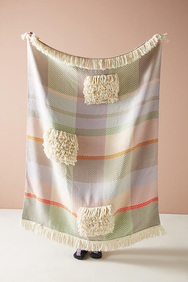 ANTHROPOLOGIE☆Hermine Van Dijck Tufted Throw Blanket 税送込