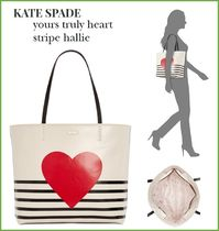 【Kate spade】yours truly heart stripe hallie♡ハート
