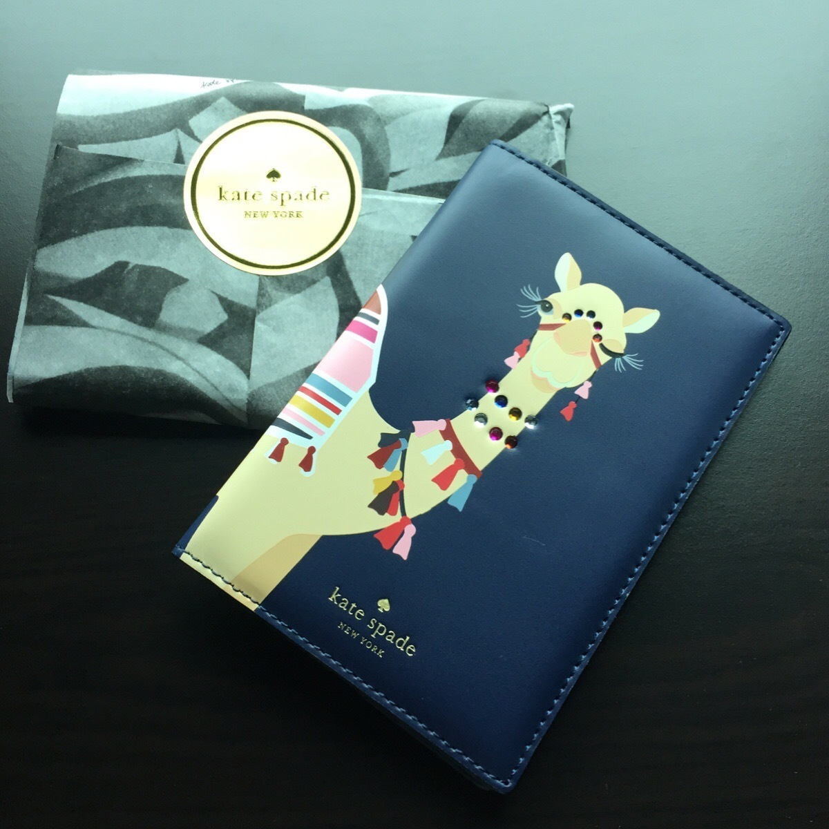 kate spade / Passport holder / spice things up camel