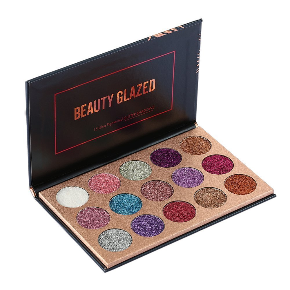 Ultra Pigmented Mineral Pressed Glitter Make Up Eye Shadow