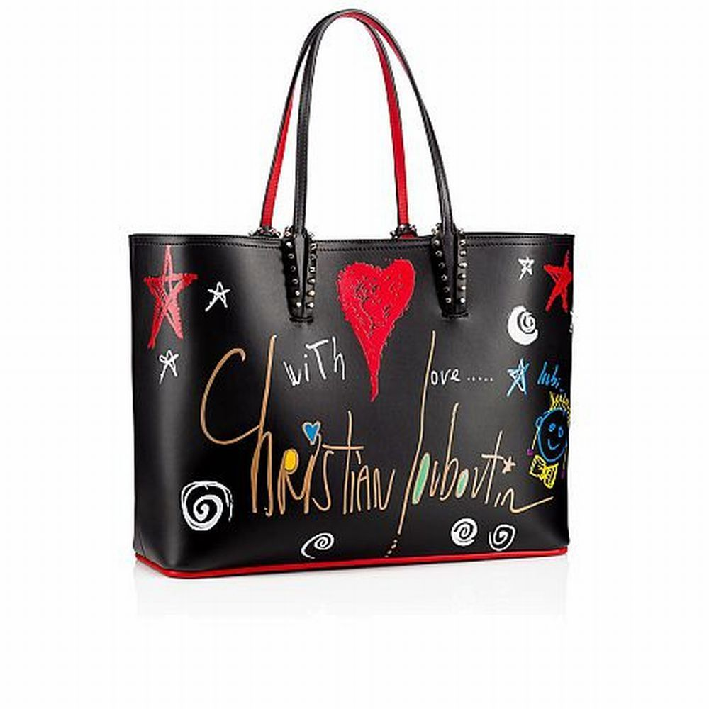18New■Christian Louboutin■ペイントCabata Tote Black 関税込