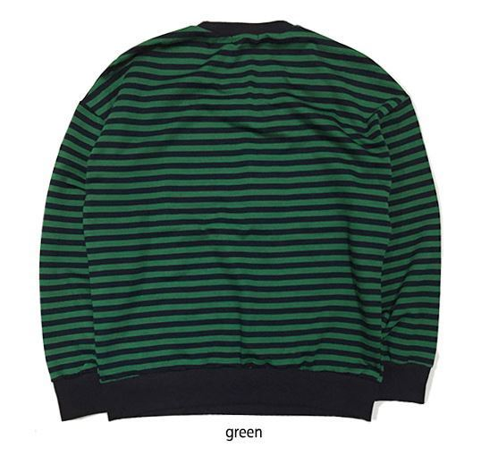 GINGHAMBUSのunisex Color Pop Stripe Sweatshirt 全5色