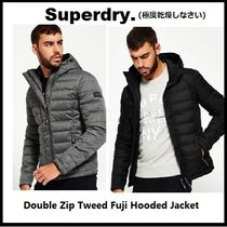 Superdry ダウンジャケットDouble Zip Tweed Fuji Hooded Jacket