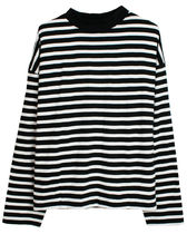 mnml Stripe Cannon L/S T-Shirt - Black/White ボーダー