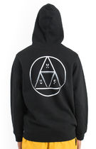 HUF Circle Triple Triangle Pullover Hoodie Black S パーカー