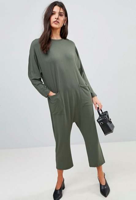 ASOS☆Minimal Jersey Jumpsuit with Batwing Sleeve♪