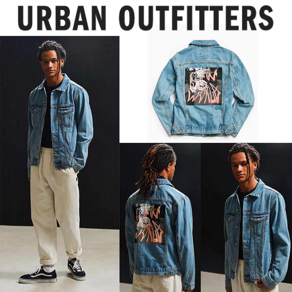 US限定☆Urban Outfitters☆BDGデニムプリントジャケット☆