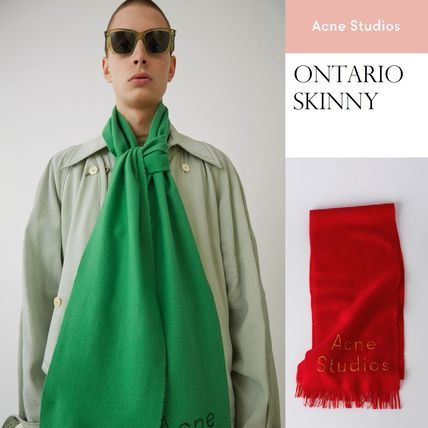 [Acne] Ontario skinny scarf スキニーロングマフラー210x55㎝